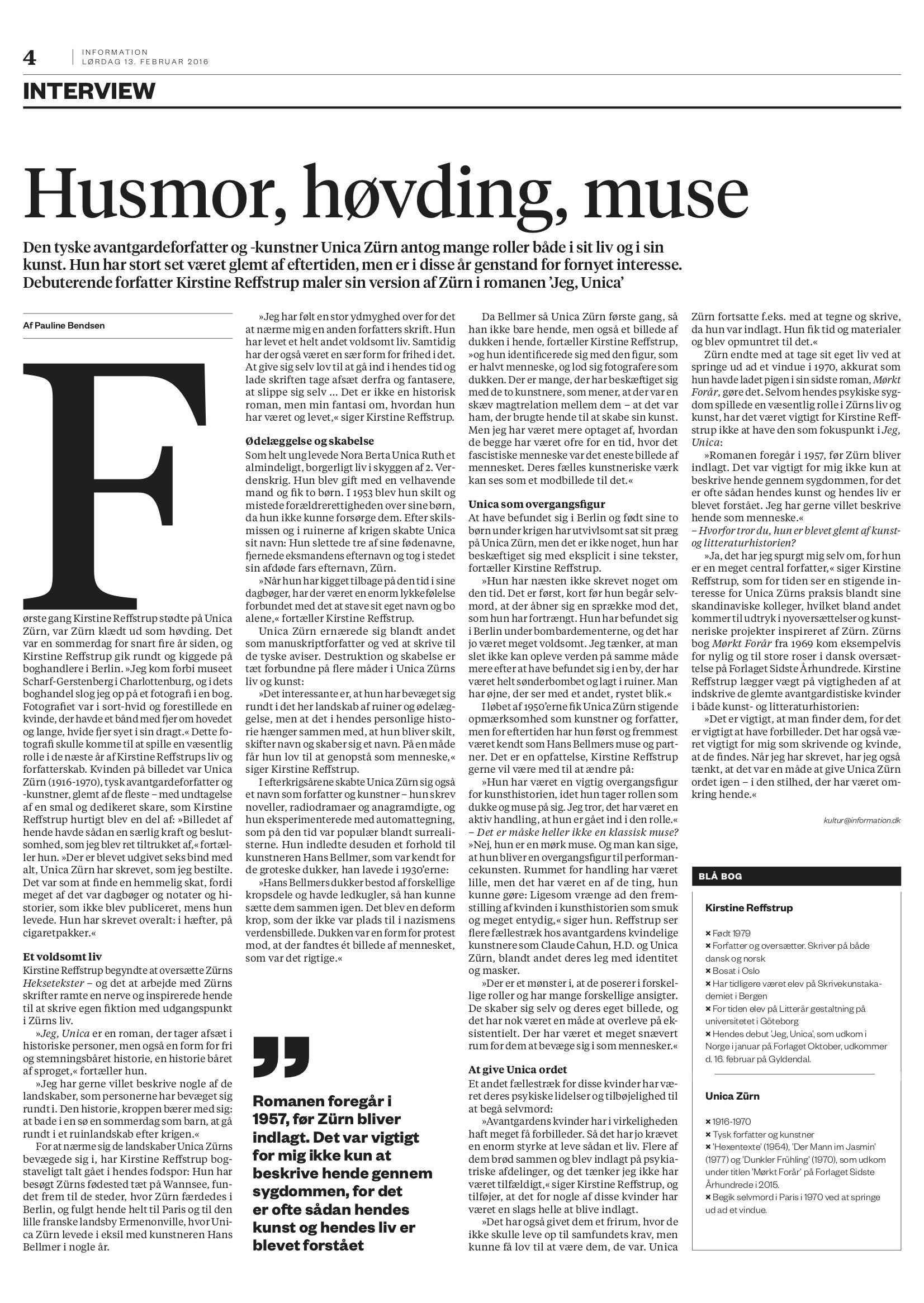 Membran Interview: Husmor, høvding, muse